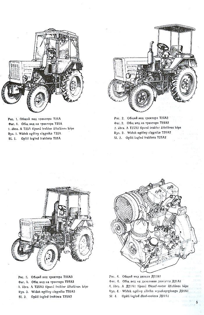 Т-25 / Общий вид тракторов