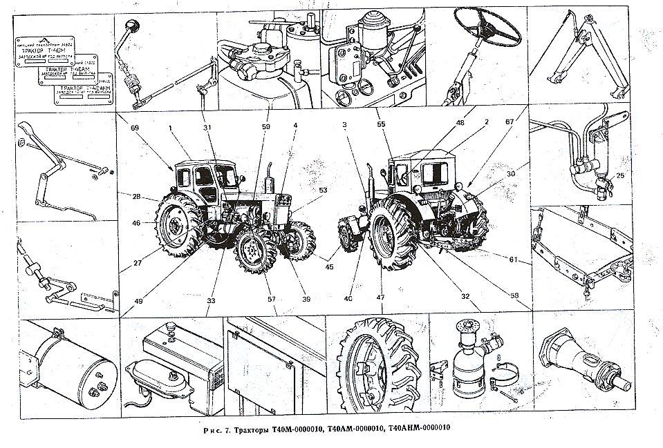 Трактора Т40, Т25.